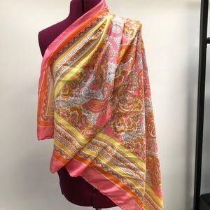 H&M pink and orange scarf